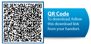 Use your Android smartphone to scan this QR Code to download the app.